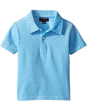 Oscar de la Renta Childrenswear - Heathered Short Sleeve Polo (Toddler/Little Kids/Big Kids)