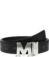 MCM - Claus Reversible Silver Buckle Belt