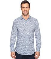Perry Ellis - Linear Texture Print Shirt