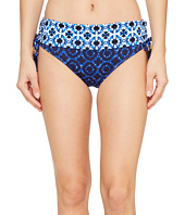 Tommy Bahama - Shibori Splash High-Waist Bikini Bottom With Tassels