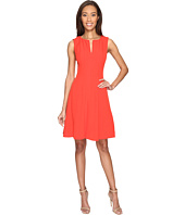 Adrianna Papell - Seamed Stretch Crepe Fit and Flare Dress with Invisible Zipper