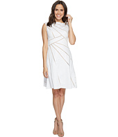 Adrianna Papell - Cotton Sateen Fit and Flare Dress