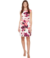 Adrianna Papell - Printed Cotton Faille Belted A-Line Dress