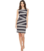 Adrianna Papell - Sleeveless Stripe Bodycon Dress