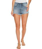 Amuse Society - Easton Mid-Rise Denim Shorts in Faded Indigo