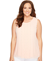 Calvin Klein Plus - Plus Size Sleeveless Top with Stud Detail