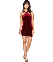 Brigitte Bailey - Bridget Double Keyhole Velvet Bodycon Dress