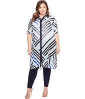 Calvin Klein Plus - Plus Size Long Printed Tunic