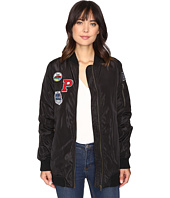 Brigitte Bailey - Monica Extra Long Bomber with Patches