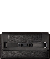 COACH - Pebbled Leather Coach Swagger Wallet
