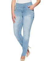 Jag Jeans Plus Size - Plus Size Peri Pull-On Straight Comfort Denim in Blue Issue