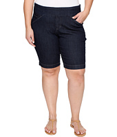 Jag Jeans Plus Size - Plus Size Ainsley Pull-On Bermuda Comfort Denim in Dark Shadow