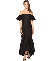 JILL JILL STUART - Silk/Cotton Faille Strapless Off the Shoulder Dress