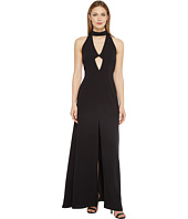 JILL JILL STUART - 2-Ply Crepe Halter Cut Out Dress