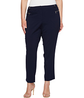 Calvin Klein Plus - Plus Size Straight Pants with Buckle & Zip