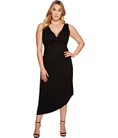Karen Kane Plus - Plus Size Asymmetric Maxi Dress