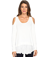 Karen Kane - Cold Shoulder Lace Inset Sweater