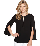 Karen Kane - Open Sleeve Zip-Up Top