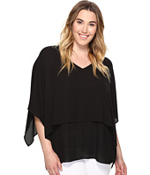 Karen Kane Plus - Plus Size Double Layer V-Neck Top