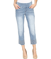 Jag Jeans - Baker Pull-On Crop Comfort Denim in Blue Issue w/ Embroidered Hem