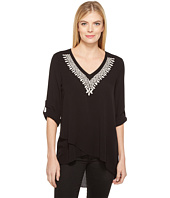 Karen Kane - Embroidered Crossover Top