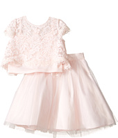 Us Angels - Satin & Lace Two-Piece Popover Bolero & Layered Skirt (Toddler)