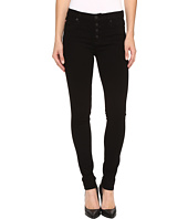 Hudson - Ciara Super Skinny Exposed Buttons Jeans in Black