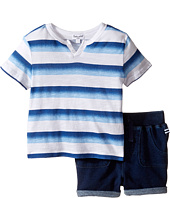 Splendid Littles - Ombre Printed Stripe Shorts Set (Infant)