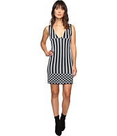 HOUSE OF HOLLAND - Knitted Lurex Stripe Dress
