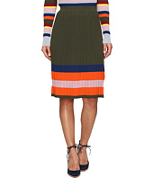 HOUSE OF HOLLAND - Knitted Merino Pleated Skirt