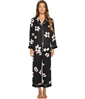 Oscar de la Renta Pink Label - Printed Satin Stripe Pajama Set