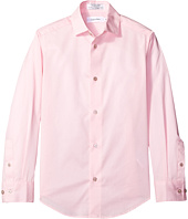 Calvin Klein Kids - Long Sleeve Solid Stretch Poplin Shirt (Big Kids)