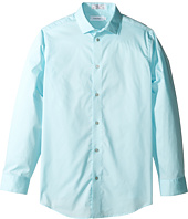 Calvin Klein Kids - Long Sleeve Solid Stretch Poplin Shirt (Little Kids)