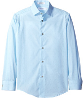 Calvin Klein Kids - Long Sleeve Diamond Dobby Shirt (Big Kids)