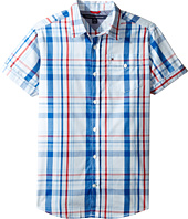 Tommy Hilfiger Kids - Corbin Short Sleeve Plaid Shirt (Big Kids)