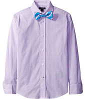 Tommy Hilfiger Kids - Long Sleeve Mini Gingham Shirt with Bowtie (Big Kids)