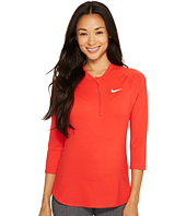 Nike - Court Dry 3/4 Sleeve Half-Zip Tennis Top
