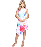 Calvin Klein - Floral Dress with Asymmetrical Hem CD7C201K