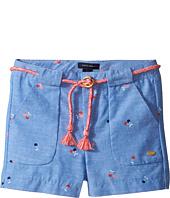 Tommy Hilfiger Kids - Printed Shorts with Novelty Tassle Belt (Toddler)