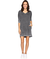 Allen Allen - 3/4 Dolman Sleeve V-Neck Dress