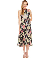 Tahari by ASL - Floral Chiffon Midi-Length Dress