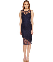 Tahari by ASL - Illusion Bodice Lace Sheath Dress