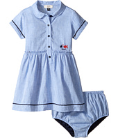 Armani Junior - Linen Dress with Bloomer (Infant)