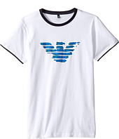 Armani Junior - Entry Logo Tee (Toddler/Little Kids/Big Kids)