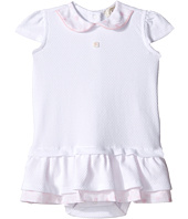 Armani Junior - Drop Waist Dress with Floral Collar (Infant)