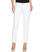 Hudson - Jax Boyfriend Skinny Flap Pocket Jeans in White