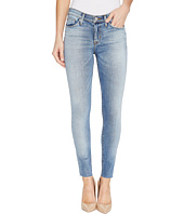 Hudson - Nico Mid-Rise Ankle Raw Hem Super Skinny Five-Pocket Jeans in Ambitions