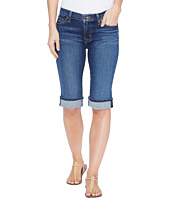 Hudson - Amelia Cuffed Knee Five-Pocket Shorts in Blue Moon