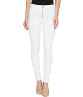 Hudson - Ciara High-Rise Ankle Super Skinny Buttonfly Five-Pocket Jeans in White