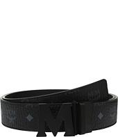 MCM - Claus Reversible Matte Black Buckle Belt